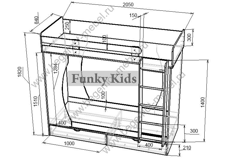Деревянная двухъярусная кровать своими руками чертежи