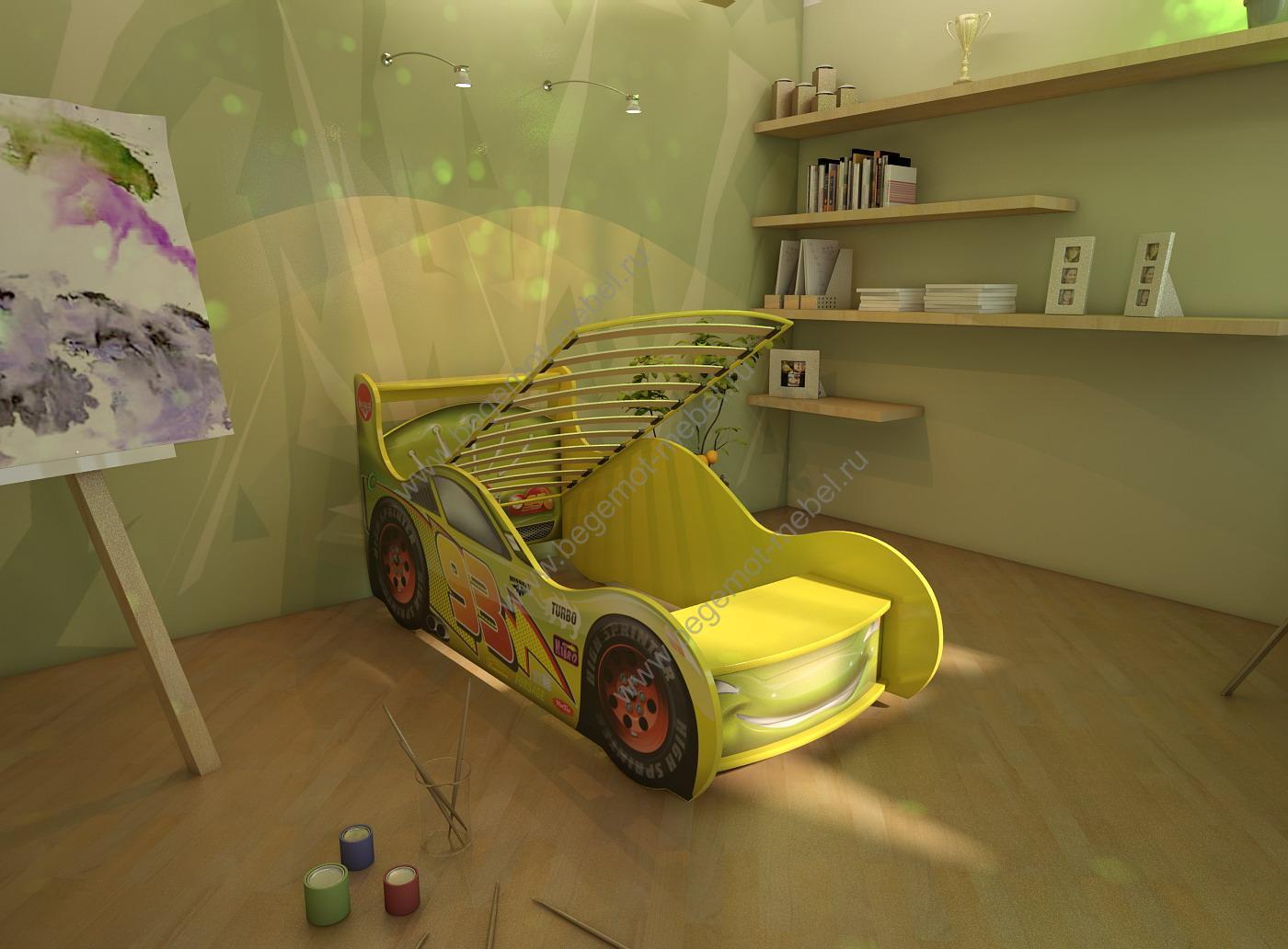 Как сделать кровать машину для ребенка