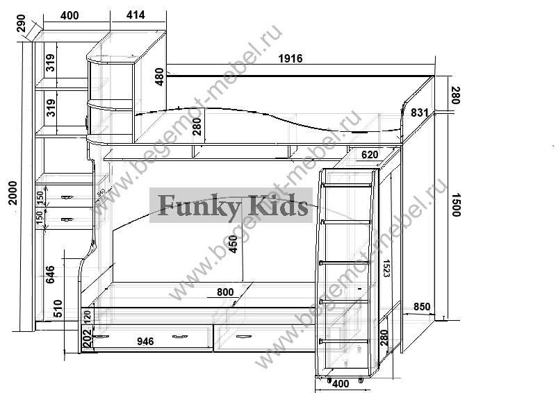 Чертежи детской мебели с размерами своими руками