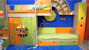 Кровать для двух детей выше радуги