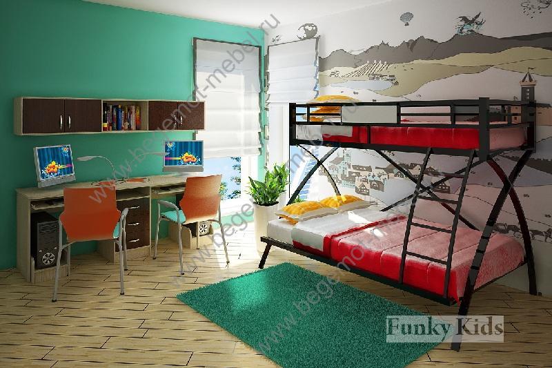 Кровать двухъярусная металлическая икеа фото