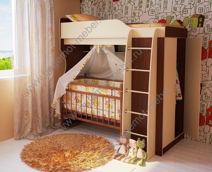 с фото двухъярусных люлькой кроватей
