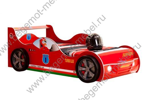 Кровать машина TURBO RED T505LXRN, спальное место 190х90 см.