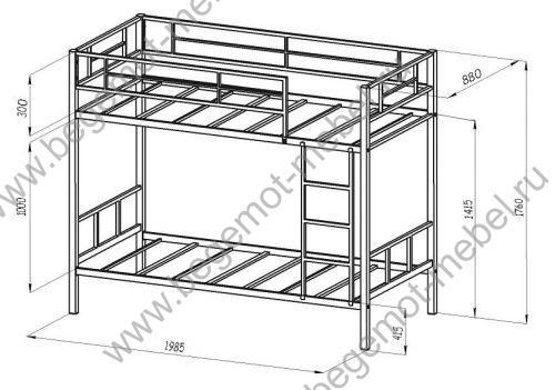 Схема сборки двухъярусной кровати флинт