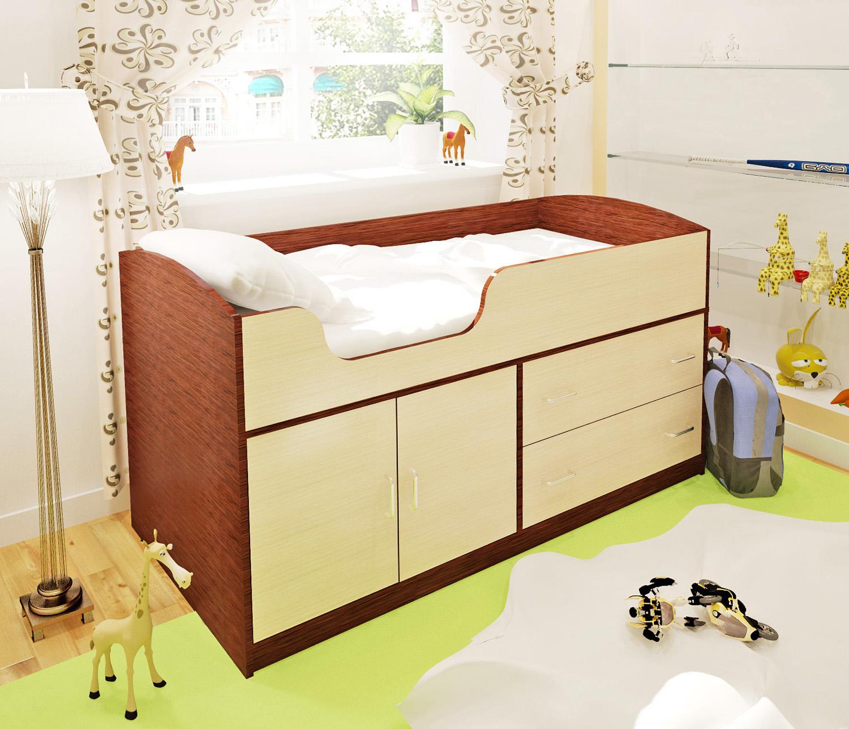 Детская кровать ОРБИТА-9 , венге/дуб кремона